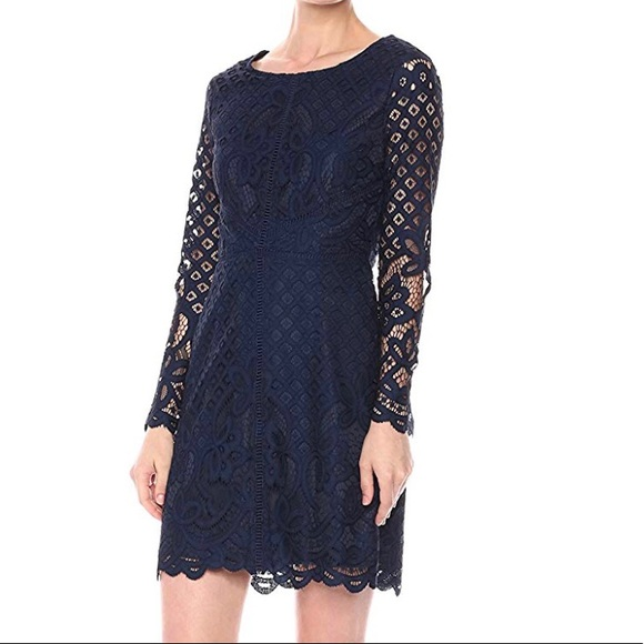 022243fd6fb Cupcakes and Cashmere Spence Dress Navy Blue Lace